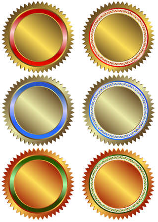 Gold, silver and bronze banners on white background  Vector