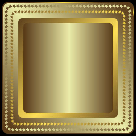 Silvery and golden banner (vector) Vector