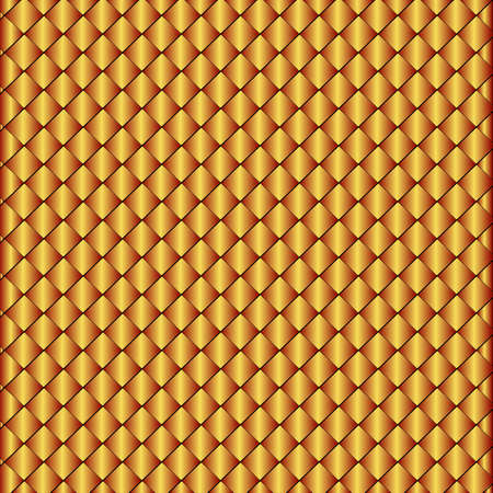 metal lattice: Sparkling background from small bronze rhombuses (vector)