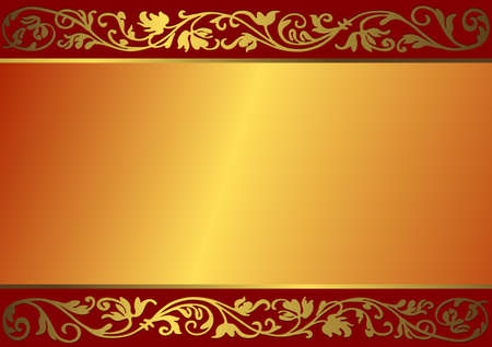 metallic banners: Vintage bronze frame with place for the text