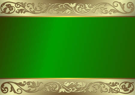 Vintage green frame with place for the text Vector
