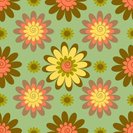 Abstract seamless floral pastel pattern Stock Vector - 4719251