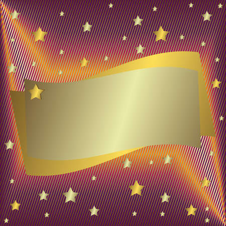 Silvery  frame with stars Vector