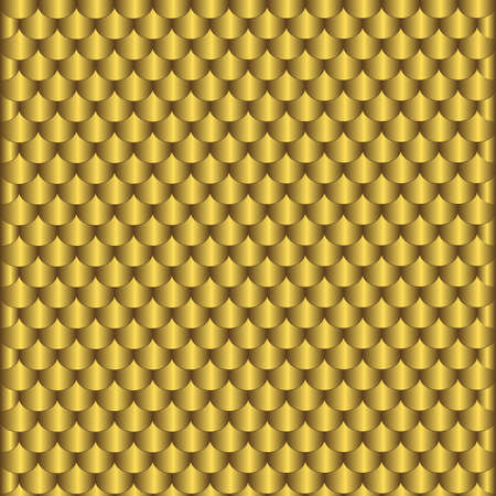 Homogeneous pattern from gold scales Vector