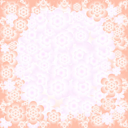 Abstract floral gentle pink pattern with place for the text (vector) Vector