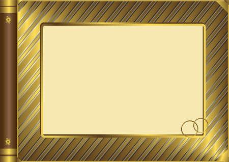 Golden vintage photo album cover (vector) Stock Vector - 4813587