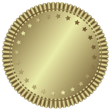 Silver plate with stars (vector) Vector