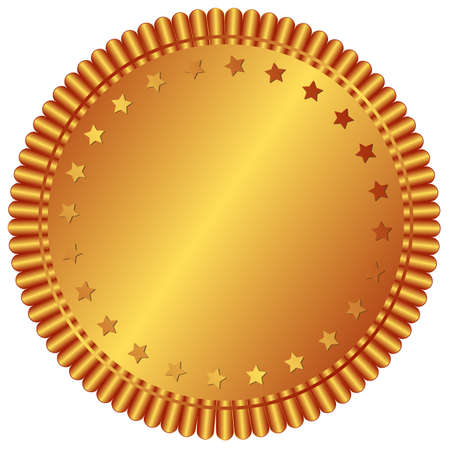 Bronze plate with stars (vector)