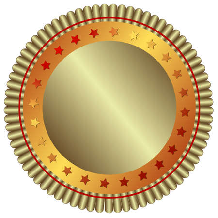Silver plate with red stars (vector) Stock Vector - 4821506