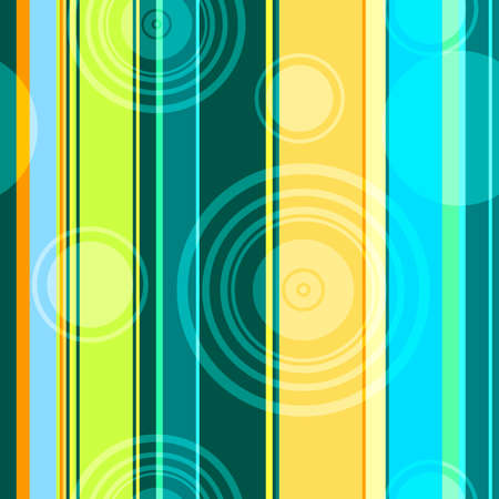 Seamless abstract background with strips and circles  Vector