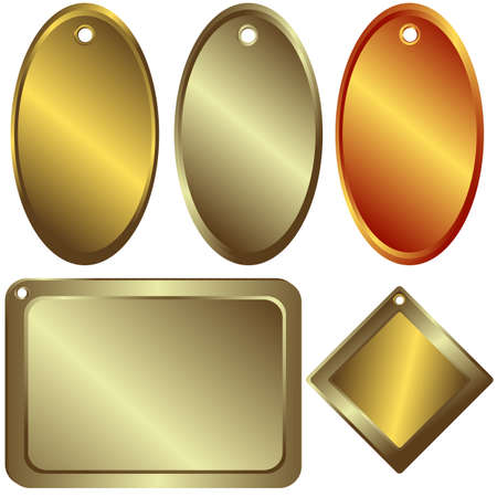 Gold, silver and bronze  counters  (vector) Illustration