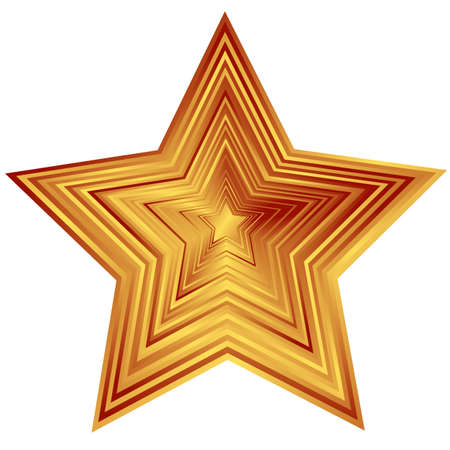 stars vector: Bronze  star (vector)