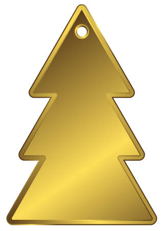 Golden metallic a charm in the form of fur-tree Vector
