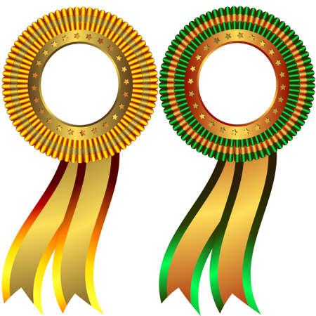 goldmedaille: Reihe von Gold-und Bronze-Medaillen