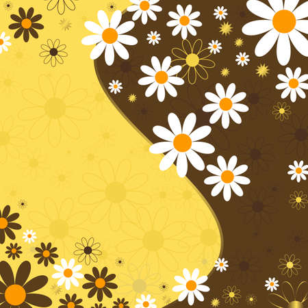 Abstract floral background (vector) Vector