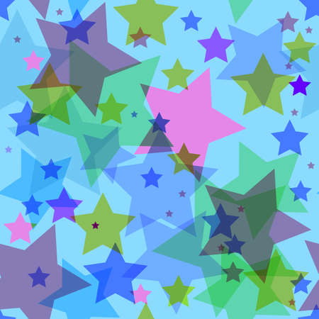 Abstract seamless background with translucent stars Vector