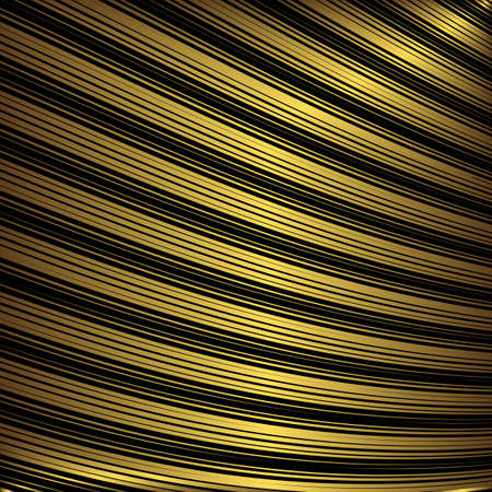 diagonal: Black and golden decorative striped background (vector)