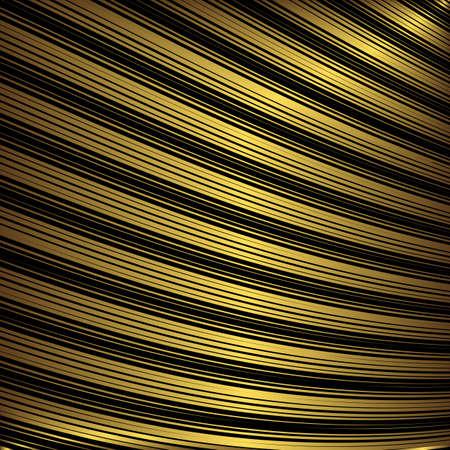 diagonal stripes: Black and golden decorative striped background (vector)