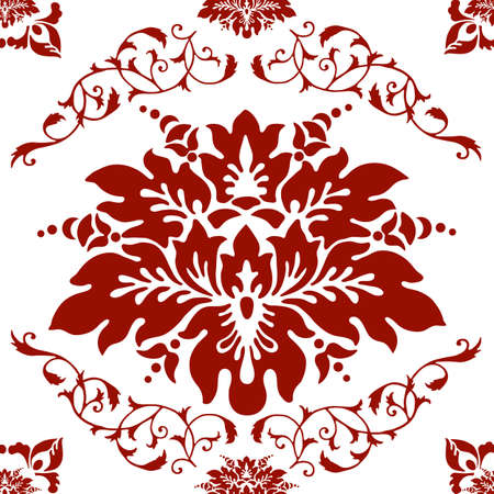 Vintage floral seamless background (vector) Vector