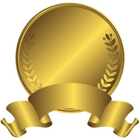 gold medal: Big gold medal (vector)