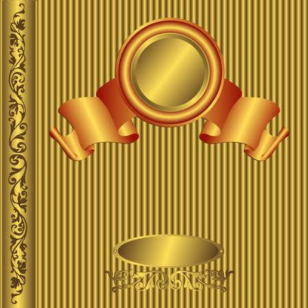 fotoalbum vintage: Big Gold Vintage Photo Album-Cover