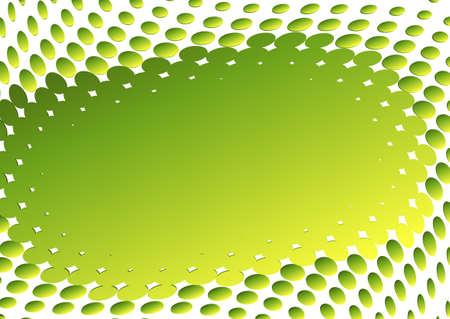 Abstract green-yellow frame (vector) Vector