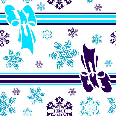Abstract seamless winter blue background Vector