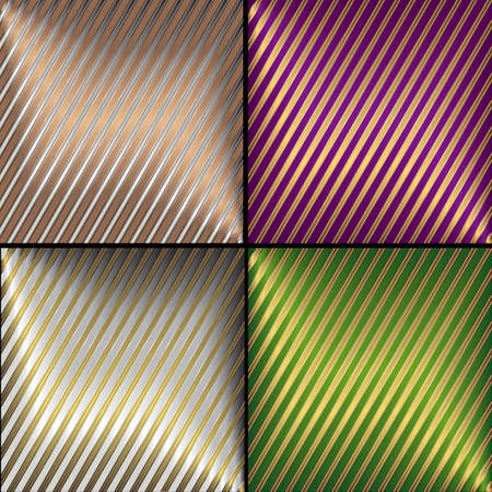 Collection vector diagonal striped backgrounds