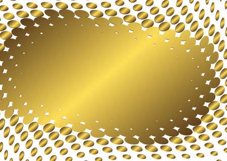 Abstract golden frame (vector) Vector