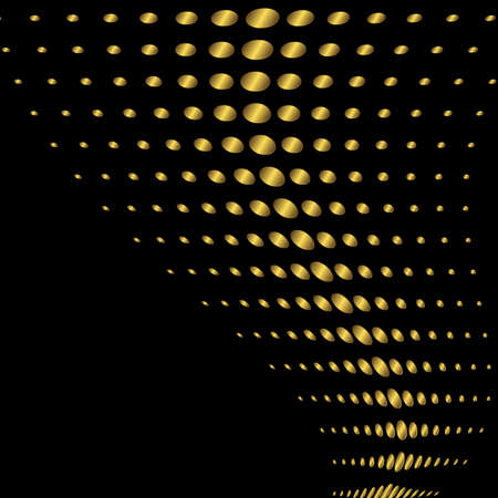 dotted lines: Abstract black and golden background (vector)
