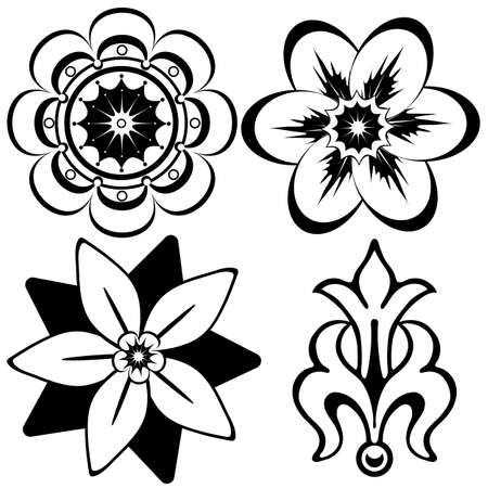 Vintage floral decorative elements for design (vector) Stock Vector - 5625087