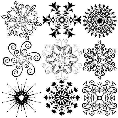 New collection snowflakes