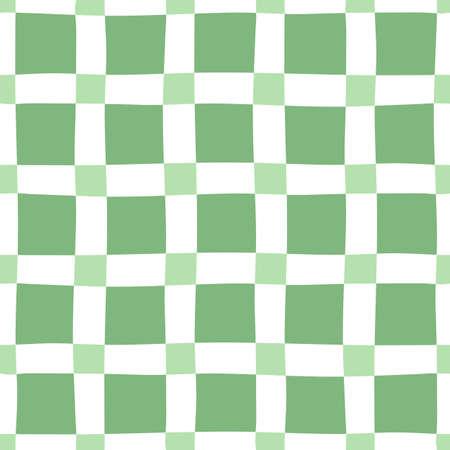 nonuniform: Green-white seamless pattern
