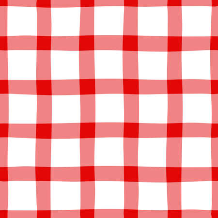 nonuniform: Red-white traditional seamless pattern in a section