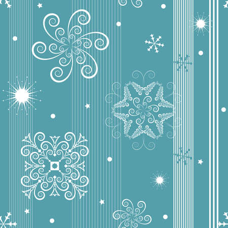 whiteblue: Seamless white-blue christmas pattern  Illustration