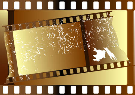 Film strips  grunge on white background for design (vector) Vector