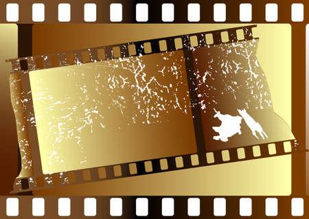Film strips  grunge on white background for design (vector) Vector
