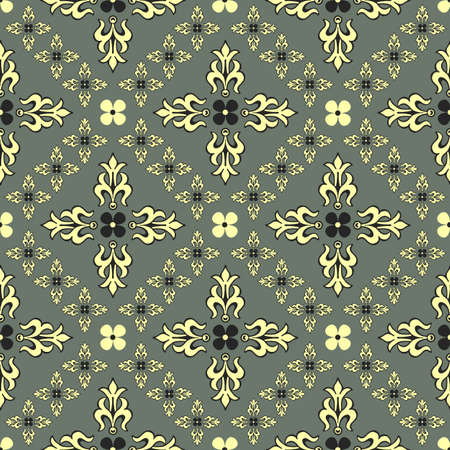 Grey seamless vintage decorative pattern (vector) Stock Vector - 5670583