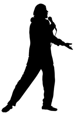 canta: Il musicista professionista e il cantante agisce in un concerto. Vettore  Vettoriali