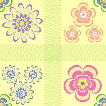 Abstract pastel seamless floral pattern ( vector) Vector
