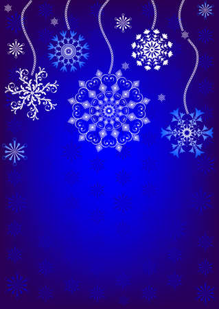 Christmas background with snowflakes Stock Vector - 5707828