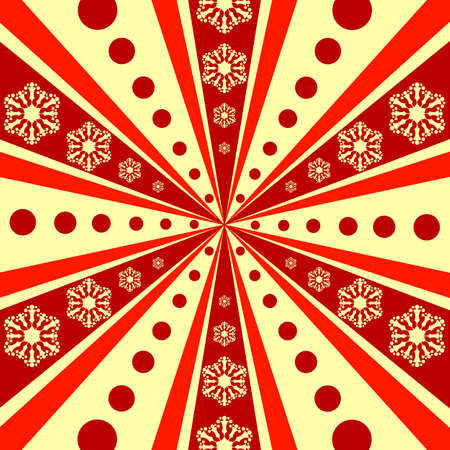 Christmas abstract  background with rays (vector) Illustration