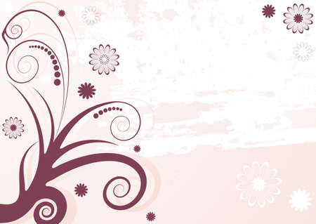 lilas: Grunge lilas abstract floral  background (vector)  Illustration