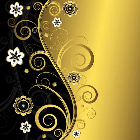 fondo elegante: Floral background elegante (vector)