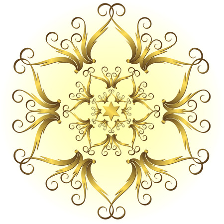 Golden vintage snowflake Stock Vector - 5806246