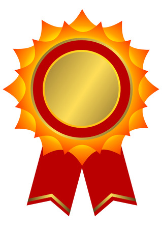 Red, golden and yellow award (vector)  Vector
