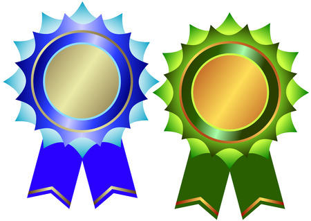 silvery: Set of bronze and silvery awards (vector) Illustration