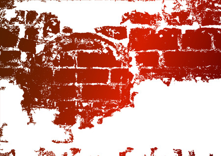 whitewash: Old brick wall, stained whitewash