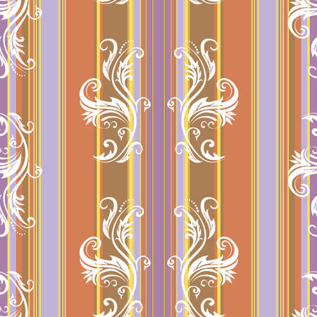 Abstract floral stripes background Stock Vector - 6131989