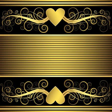 golden texture: Valentine background with gold heart